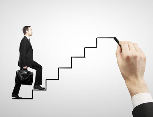 عکس با کیفیت پیشرفت پلکانی در کسب و کار