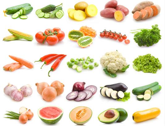 عکس با کیفیت انواع سبزیجات و صیفی جات