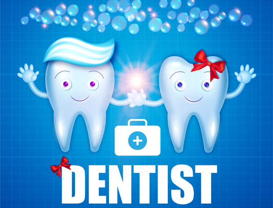 وکتور طرح دندان و دندانپزشک