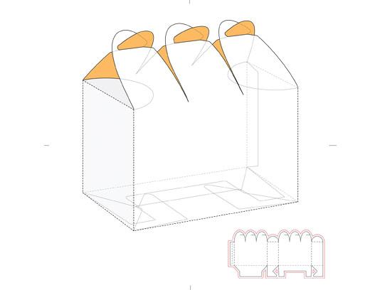 وکتور طرح گسترده جعبه کادویی