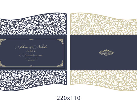 وکتور طرح کارت دعوت عروسی