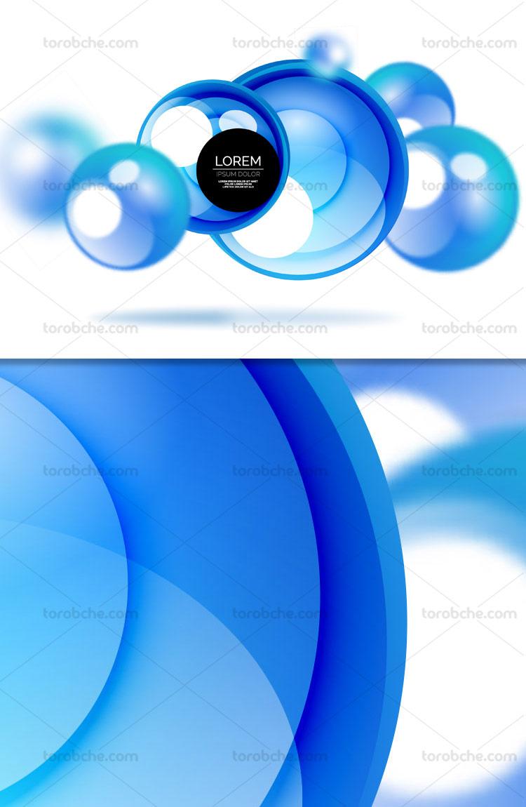 وکتور دایره های انتزاعی آبی