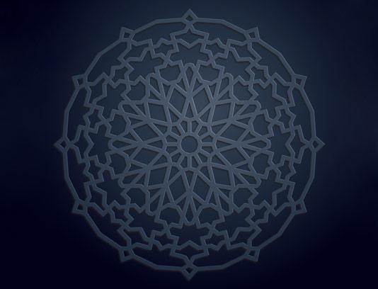 وکتور الگوی هندسی مشبک اسلامی
