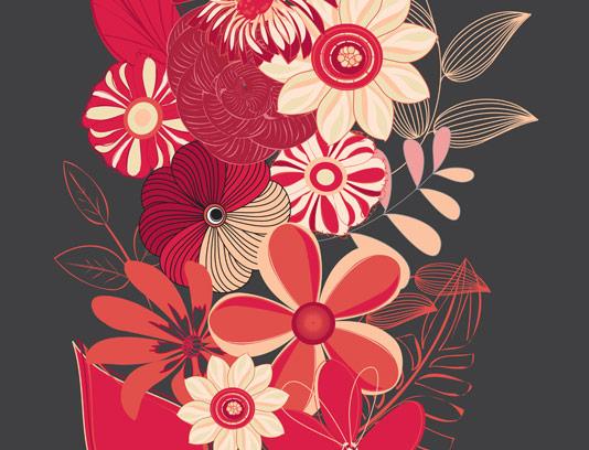 وکتور طرح جذاب گل و بوته