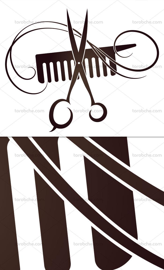 وکتور لوگوی خلاقانه آرایشگری
