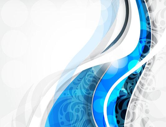 وکتور بکگراند انتزاعی خطوط آبی رنگ