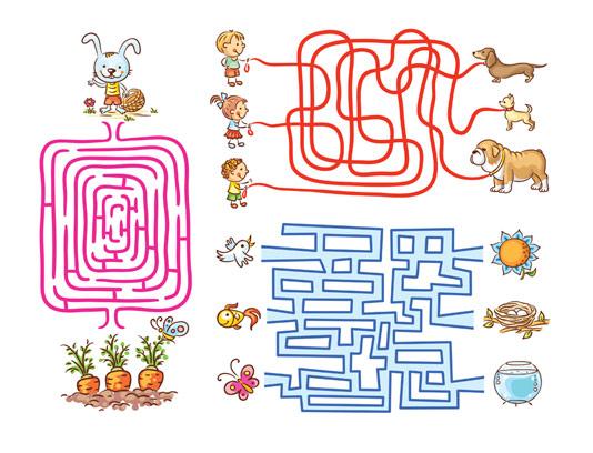 بازی فکری مسیریابی کودکان