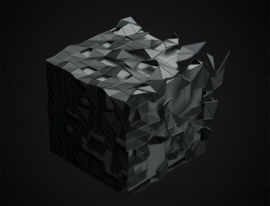 عکس بکگراند انتزاعی مکعب سه بعدی