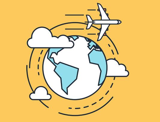 وکتور مفهومی سفر تجاری