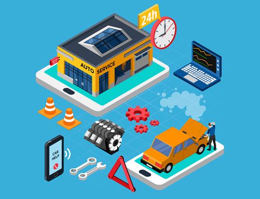 وکتور ایزومتریک خدمات اتومبیل
