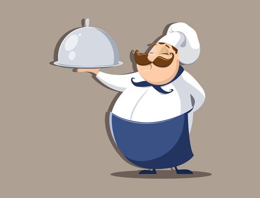 وکتور کاراکتر کارتونی سرآشپز