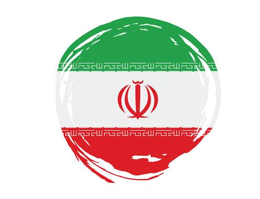 وکتور پرچم ایران به صورت اسپلش دایره ای