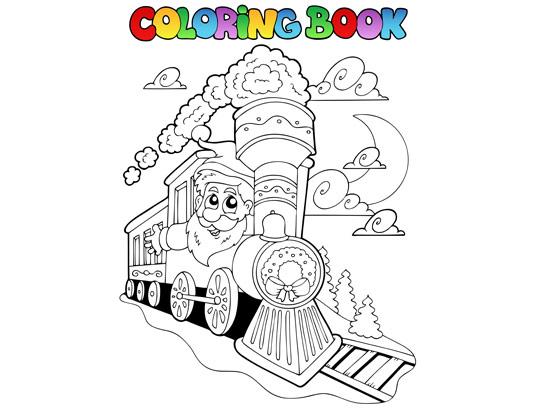 وکتور جذاب قطار برای رنگ آمیزی کودکان