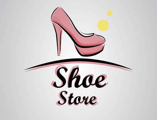 وکتور لوگو خلاقانه فروشگاه کفش