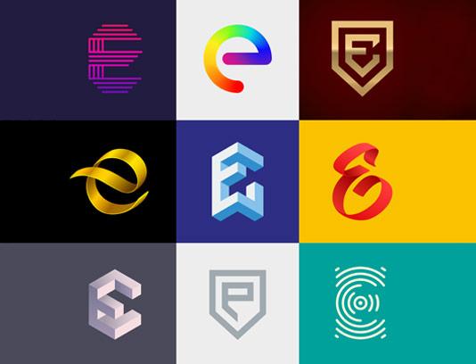 وکتور لوگو های خلاقانه با حرف E لاتین