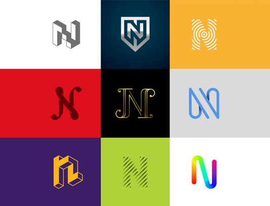 وکتور لوگو های خلاقانه با حرف N لاتین