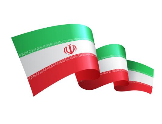 وکتور پرچم موج دار ایران