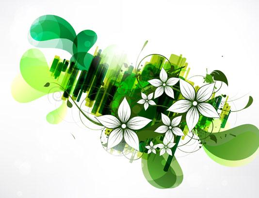 وکتور بکگراند انتزاعی گل