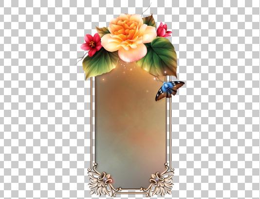 عکس قاب دوربری شده گل و پروانه