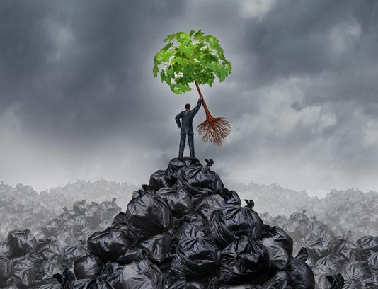 عکس خطر زباله ها برای محیط زیست