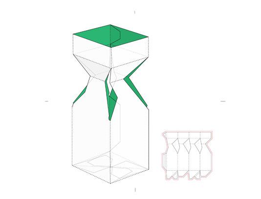 صفحه گسترده جعبه کادو با خط برش