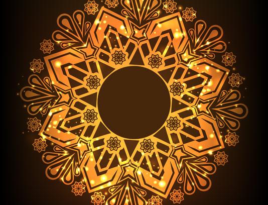 وکتور المان دکوراسیون طلایی رنگ