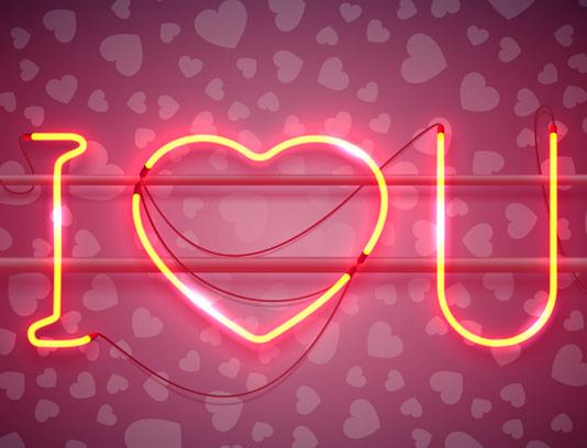 پس زمینه قلب و دوست دارم