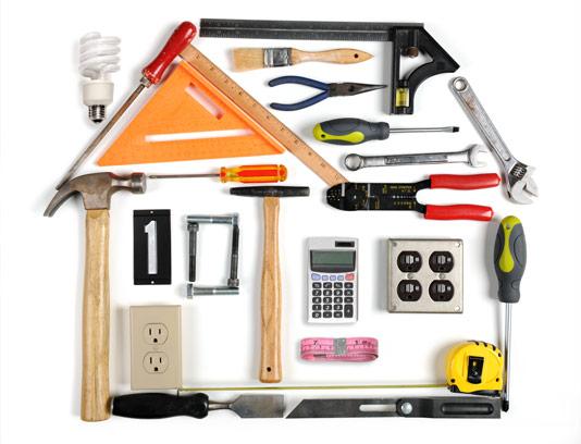 عکس مفهومی خانه با ابزار آلات