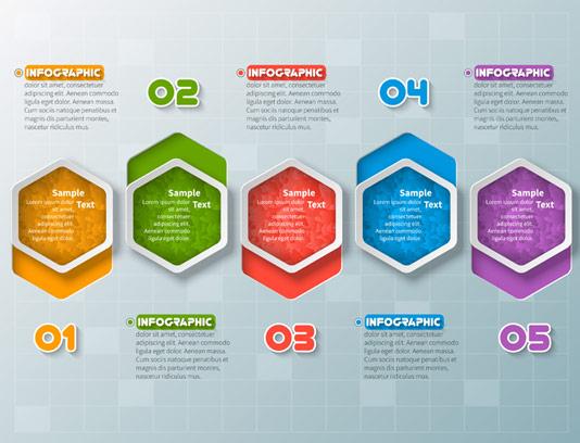وکتور اینفوگرافیک پنج مرحله ای
