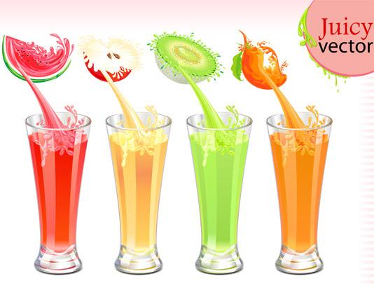وکتور آب میوه طبیعی