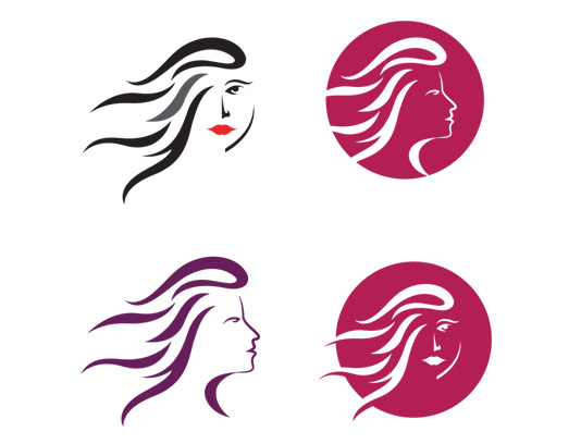 وکتور لوگوی چهره زن