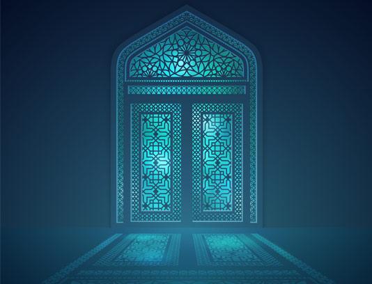 وکتور پنجره طرح اسلیمی و اسلامی