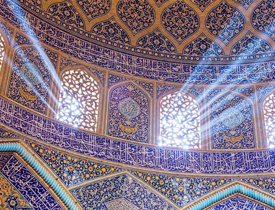 عکس کاشی کاری داخل مسجد