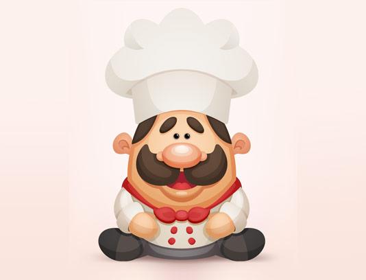 وکتور فانتزی و خلاقانه سرآشپز