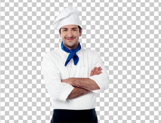 عکس دوربری شده سرآشپز جوان