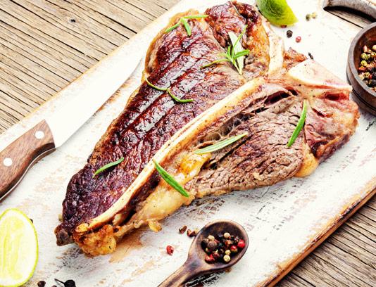عکس استیک گوشت و سبزیجات