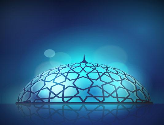 وکتور گنبد مسجد با نقوش اسلامی