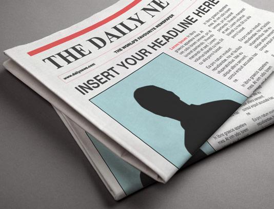 طرح لایه باز موکاپ روزنامه