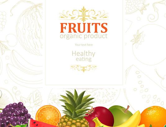 وکتور میوه ارگانیک و تغذیه سالم