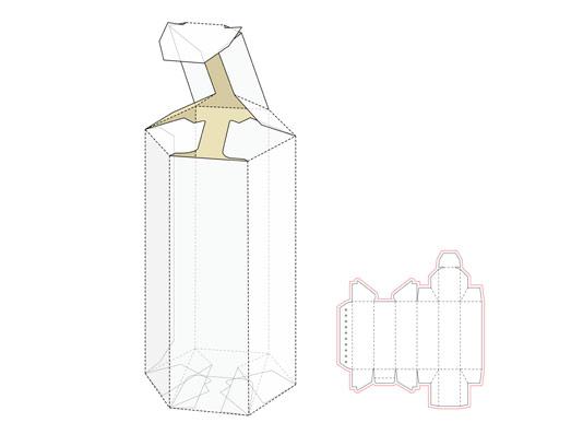 وکتور طرح گسترده جعبه منشوری شکل