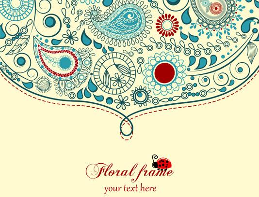 وکتور خلاقانه گل و بوته و جقه