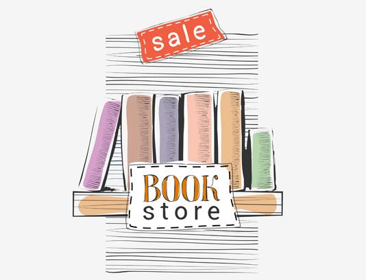 وکتور پوستر حرفه ای تخفیف کتاب فروشی