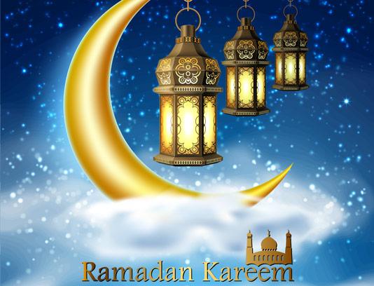 وکتور طرح ماه مبارک رمضان