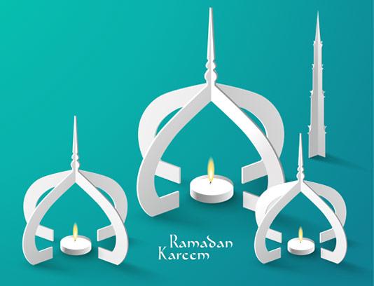 وکتور خلاقانه ماه مبارک رمضان