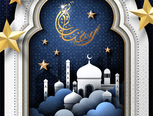 وکتور طرح جذاب ماه مبارک رمضان