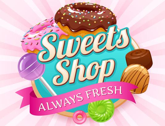 وکتور طرح شیرینی فروشی