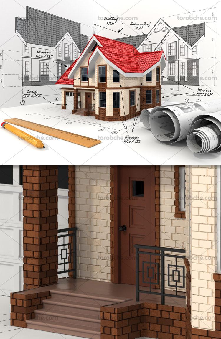 مدل سه بعدی و نقشه خانه