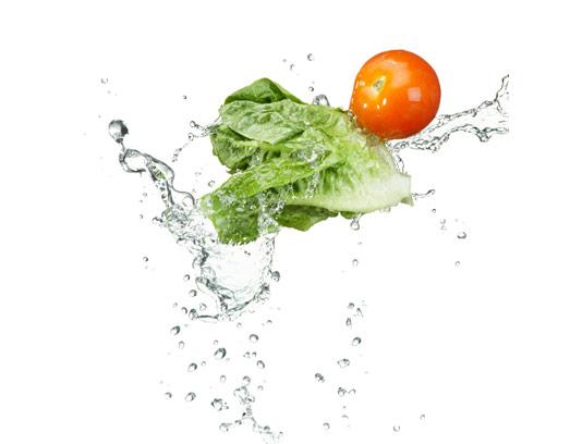 عکس خلاقانه و جذاب گوجه فرنگی و کاهو