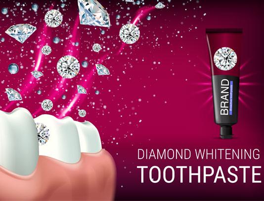 وکتور تبلیغ خمیر دندان سفید کننده
