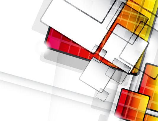 وکتور طرح انتزاعی مربع های رنگی